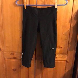 Nike black capris with drawstring size xs
